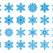 30 Vector Snowflakes Set - Stock Vector