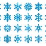 set de flocons de neige de 30 vector — Vecteur