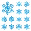 Vector snowflakes set - Stockvectorbeeld