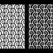Stock Vector: Two seamless patterns with spirals
