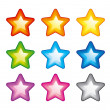 Stock Vector: Vector rainbow stars