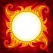 Fire or sun vector background — Stock Vector