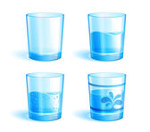 Glasses with water — Stock Vector