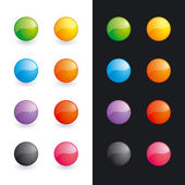 Glossy balls (buttons) — Stock Vector