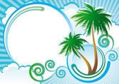 Tropical vector background — Stock Vector
