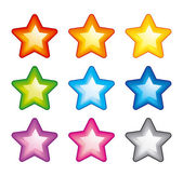 Vector rainbow stars — Stock Vector