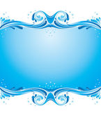 Symmetric water splashes background — Stock Vector