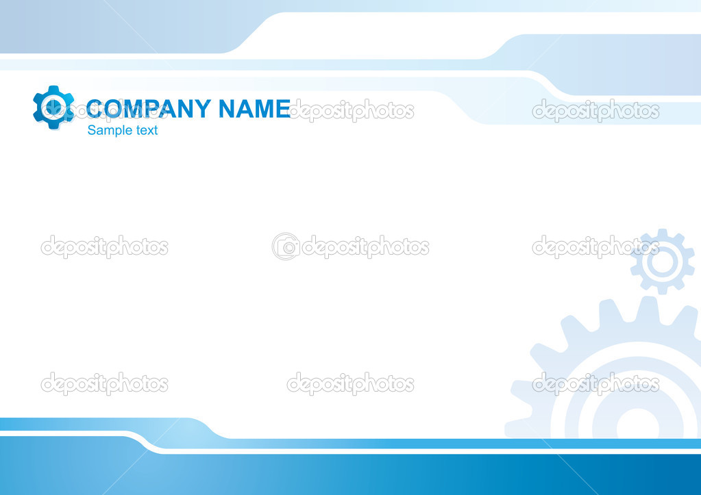 Abstract vector corporate background with gears — Stock Vector #2516172