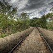 Railroad, HDR - Stock Photo