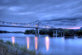 Bridge over the Mississippi River, HDR — Stock Photo