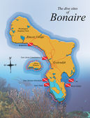 Dive Map, Bonaire — Stock Photo