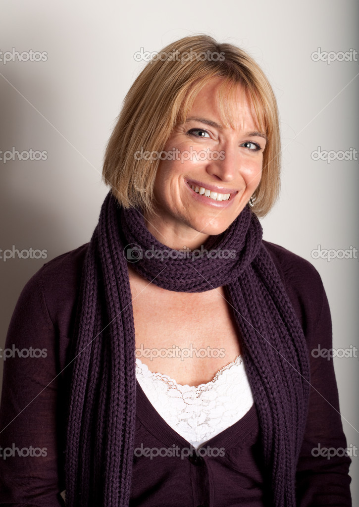 Beautiful young woman with scarf  Stock Photo #1644506