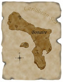 Antique Bonaire Map — Stock Photo
