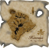 Hawaii Map — Stock Photo