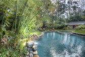 Pool and yard, HDR — Stock Photo