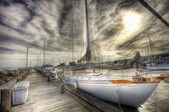 Sailboat, HDR — Stock Photo