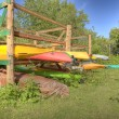 Kayaks, HDR — Stock Photo