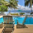 Pool at tropical resort, HDR — Stock Photo #2495394