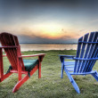 Beach Chairs, HDR — Stock Photo