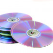 Royalty-Free Stock Photo: A lot of CDs on a white background