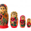 Five dolls — Stock Photo