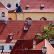 Tiled roofs of Prague — Stok fotoğraf