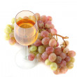 Glass of wine and grapes — Stock Photo #1842287