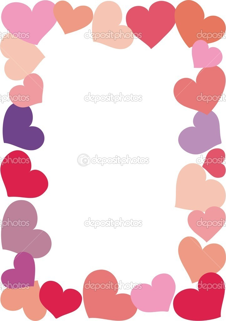 Valentine frame vector isolated on a white background  Stock Vector #2053165