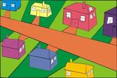 Family houses — Stock Vector