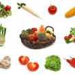 Vegetables collection — Stock Photo