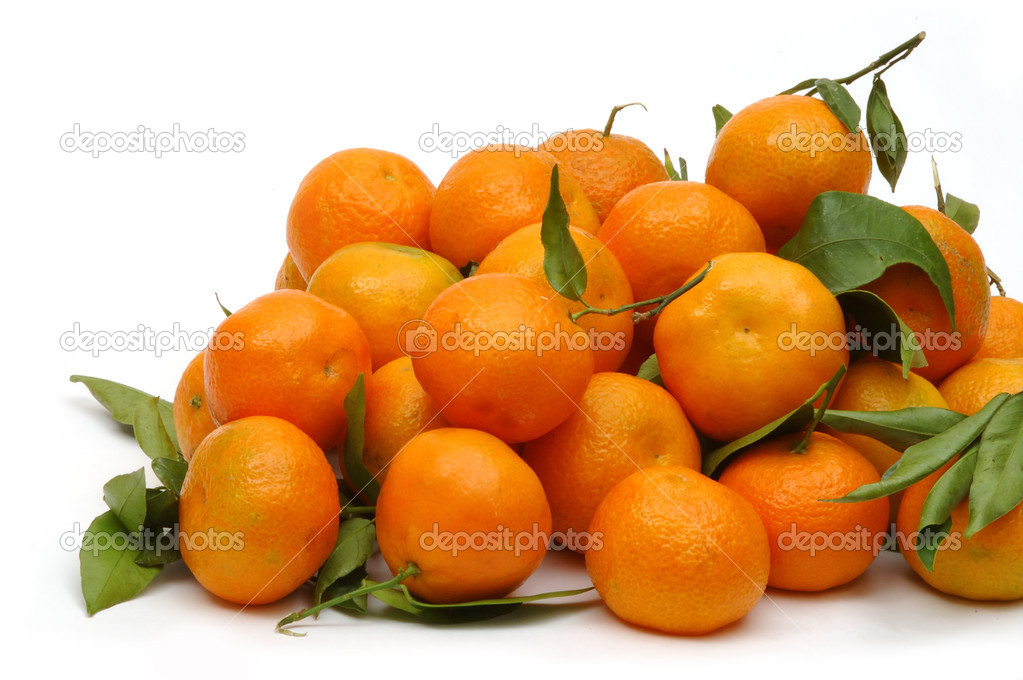 Tangerines on white background — Stock Photo #1646954