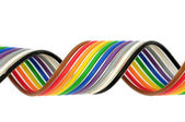 Colorful flat cable — Stock Photo