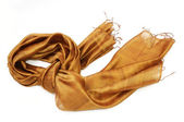 Golden scarf — Stock Photo