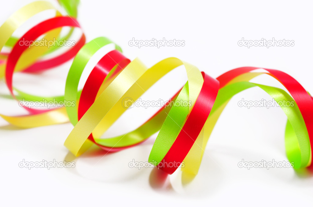 Colorful paper streamer — Stock Photo #1665039