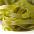 Italian pasta tagliatelle with spinat — Stock Photo