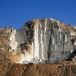 Stock Photo: White marble quarry