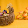 Royalty-Free Stock Photo: Easter eggs with basket