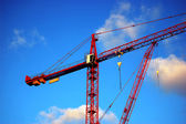 Construction crane in London — Stock Photo