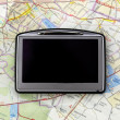 GPS on map — Stock Photo #1691576