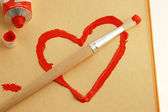 Painted heart — Stock Photo