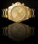 Orologio di lusso oro — Foto Stock