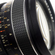 Stock Photo: Photography lens close up