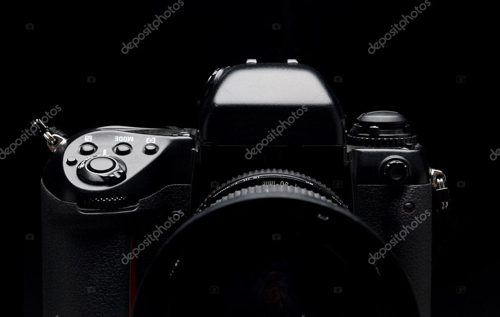 Professional digital camera over black background.  — Stock Photo #1758795