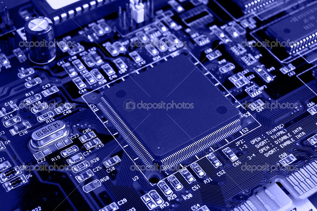 Close up of Computer Circuit Board — Stock Photo #1780388
