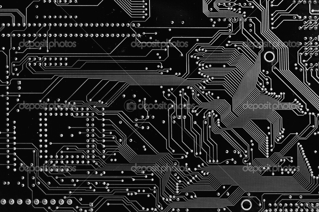 Close up of Computer Circuit Board  Stock Photo #1780483