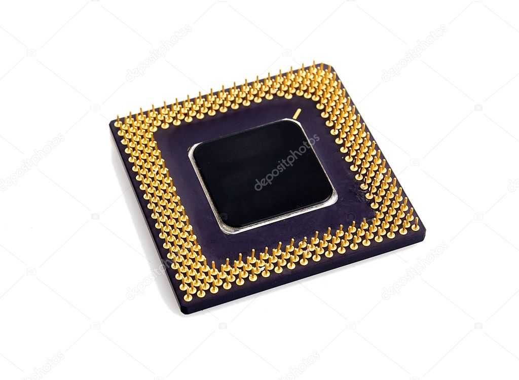 PC processor isolated over white background — Stockfoto #1780616