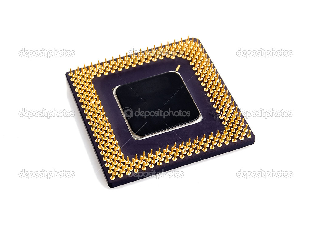 PC processor isolated over white background — 图库照片 #1780616