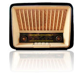 Old retro radio isolated — Stock Photo