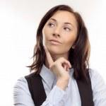 Beautiful young woman thinking — Stock Photo #2574522