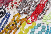 Beads from natural stones — Stock Photo